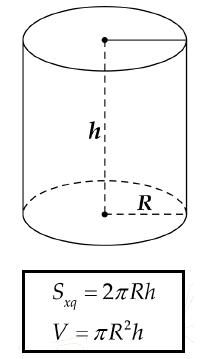 Cách tính dung tích chứa lượng xà phòng cho khối hình trụ tròn